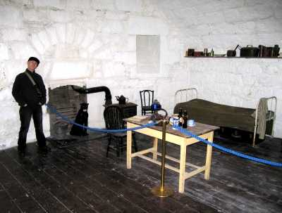 Inside the Martello tower
