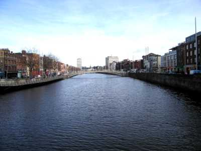 The River Liffey and Ha'penny Bridge