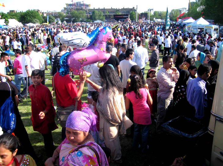 Crowds at The Baishakhi Mela